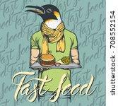fast food vector concept.... | Shutterstock .eps vector #708552154