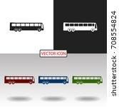 bus icon | Shutterstock .eps vector #708554824