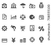 finance icons | Shutterstock .eps vector #708555100