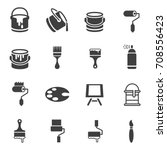 paint can icons   Shutterstock .eps vector #708556423