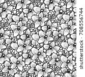 orchid flower pattern is... | Shutterstock .eps vector #708556744