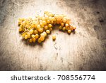 grape on a wooden background... | Shutterstock . vector #708556774