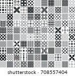 110 seamless geometric patterns ... | Shutterstock .eps vector #708557404