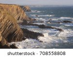 rugged coast landscape with... | Shutterstock . vector #708558808