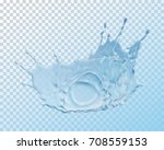 water crown splash  isolated on ...   Shutterstock .eps vector #708559153