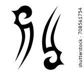tattoo tribal vector design.... | Shutterstock .eps vector #708561754