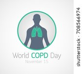 world copd day vector icon... | Shutterstock .eps vector #708566974