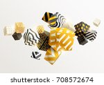 composition of gold and black... | Shutterstock .eps vector #708572674
