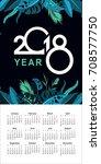 vector vertical calendar 2018...   Shutterstock .eps vector #708577750