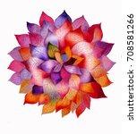 beautiful watercolor flower. | Shutterstock . vector #708581266