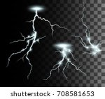 set of the isolated realistic... | Shutterstock .eps vector #708581653