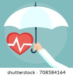health insurance concept.... | Shutterstock .eps vector #708584164