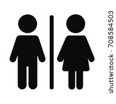 men women toilet icon | Shutterstock .eps vector #708584503