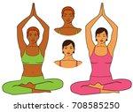 vector illustration of woman... | Shutterstock .eps vector #708585250