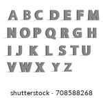 3d alphabet font with flat long ... | Shutterstock .eps vector #708588268