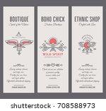 set of vintage card templates...   Shutterstock .eps vector #708588973