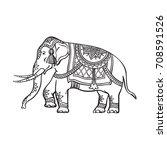 vector sketch cartoon indian...   Shutterstock .eps vector #708591526