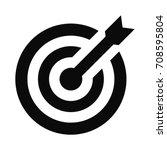 target icon. dart board.... | Shutterstock .eps vector #708595804
