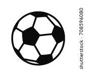 soccer ball variant sign icon.... | Shutterstock .eps vector #708596080