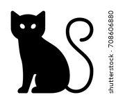 black cat | Shutterstock .eps vector #708606880