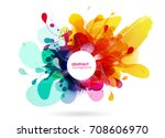 abstract colored flower... | Shutterstock .eps vector #708606970