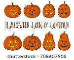 holiday halloween symbols ...   Shutterstock . vector #708607903