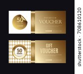 a variety of gold style coupon... | Shutterstock .eps vector #708610120