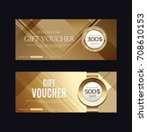 a variety of gold style coupon... | Shutterstock .eps vector #708610153