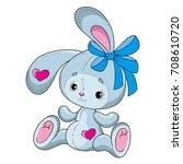cute cartoon rabbit. bunny