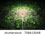 Abstract Exotic Flower With...