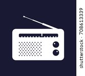 radio icon. vector white icon... | Shutterstock .eps vector #708613339
