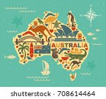traditional symbols of... | Shutterstock .eps vector #708614464