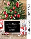 colorful tree with guten rutsch ...   Shutterstock . vector #708614770