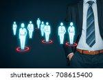 target audience  marketing ...   Shutterstock . vector #708615400