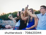 group of best teenagers friends ... | Shutterstock . vector #708620344
