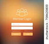 member log in blue user... | Shutterstock .eps vector #708620800
