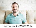 portrait of an attractive... | Shutterstock . vector #708620914