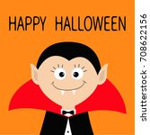 count dracula head wearing... | Shutterstock .eps vector #708622156