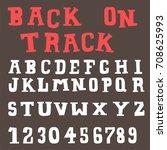 doodle alphabet fun font   Shutterstock .eps vector #708625993
