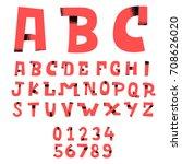 doodle alphabet fun font | Shutterstock .eps vector #708626020