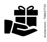 giving gift   Shutterstock .eps vector #708627733