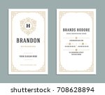 business card vintage ornament... | Shutterstock .eps vector #708628894