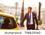 a handsome young businessman... | Shutterstock . vector #708629560