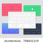set of vector qwerty mobile... | Shutterstock .eps vector #708631219