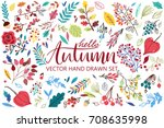 vector set on white background... | Shutterstock .eps vector #708635998