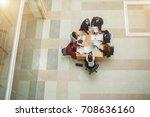 business people meeting... | Shutterstock . vector #708636160