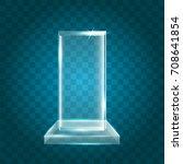 transparent shining blank... | Shutterstock .eps vector #708641854