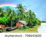 beautiful countryside landscape ...   Shutterstock . vector #708643600