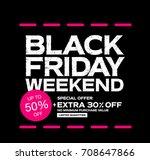 black friday sale banner | Shutterstock .eps vector #708647866