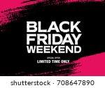 black friday sale banner | Shutterstock .eps vector #708647890